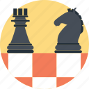 bishop, chess, game, knight, strategic planning icon