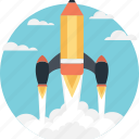 missile, rocket, spacecraft, spaceship, start up icon
