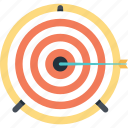 aim, bullseye, mission, shooting, target icon