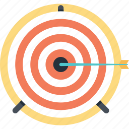 aim, bullseye, mission, shooting, target icon