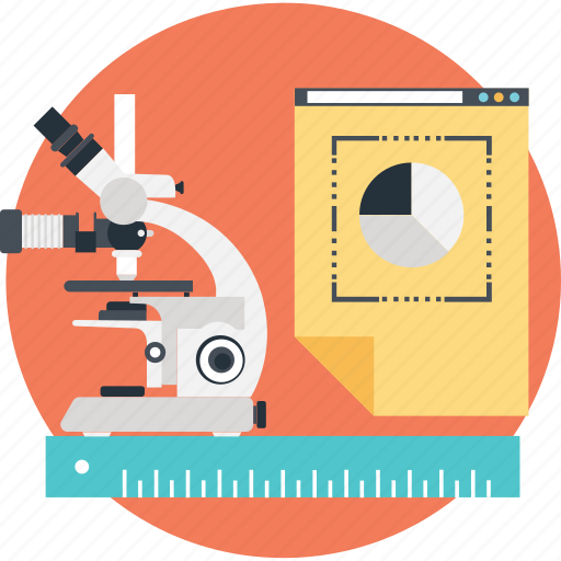 experiment, lab, market research, microscope, research icon