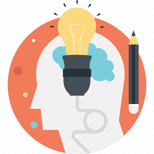 Bulb, creativity, idea, innovation, pencil icon - Download on Iconfinder
