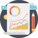 business, graph, report, statistics, stock market icon