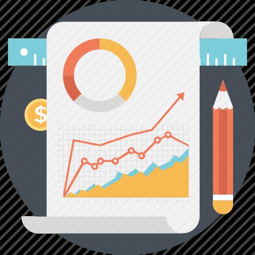 business, graph, report, statistics, stock market icon