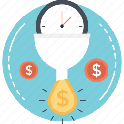 clock, time, time is money, timer, watch icon