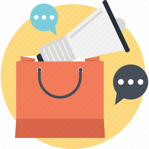 Announce, bag, bullhorn, promotion, tote icon - Download on Iconfinder