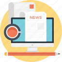 journal, news, newsblog, newspaper, print media icon