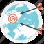 aim, dart, goal, shooting, targeting icon