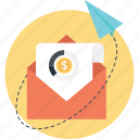 email marketing, mailbox, marketing, paperplane, sent icon