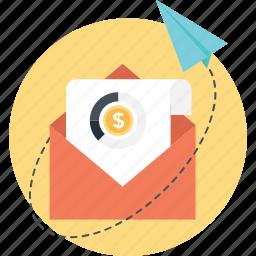 email marketing, mailbox, marketing, paperplane, sent icon