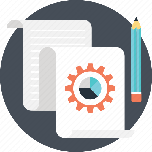 data managment, graph, paper, pie, sheet icon