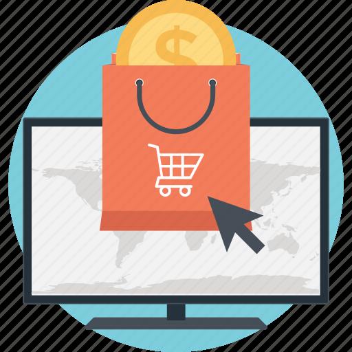 bag, cart, dollar, e commerce, shopper icon