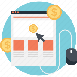 business, click, layout, mouse, ppc icon
