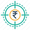 achievements, business, goal, mission, target, vision icon