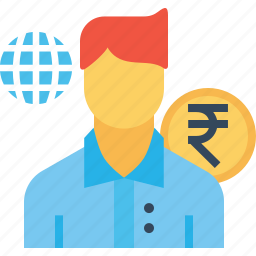 avatar, business, employee, finance, male, person, salary icon