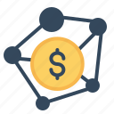 american, banking, business, connection, dollar, money, payment icon