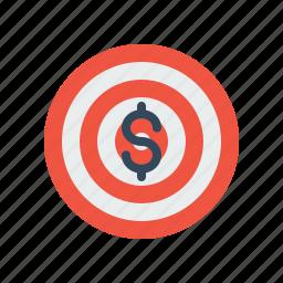 business, dart, dollar, finance, future, goal, money icon