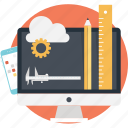 apps development, caliper, cloud, configure, monitor icon