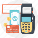 card terminal, cash terminal, invoice, swap machine, swipe icon