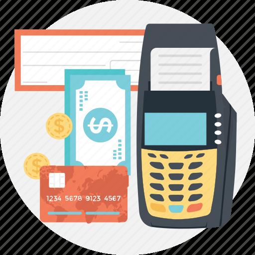 card terminal, cash terminal, invoice, swap machine, swipe icon