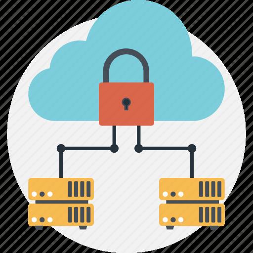 business, cloud, cloud storage, padlock, seo icon
