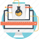 flask, lab, monitor, research, web testing icon