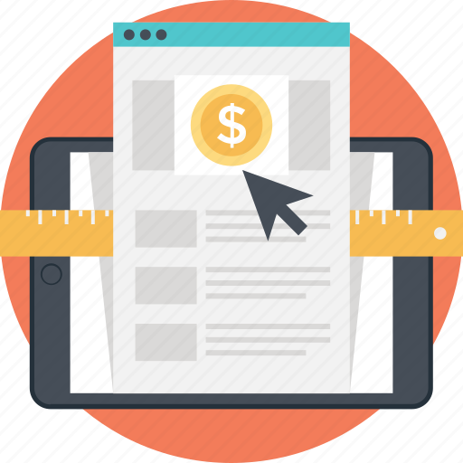 banking, click, online earning, pay per click, ppc icon