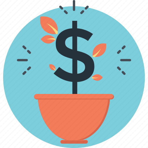 business, dollar, growth, investment, money icon