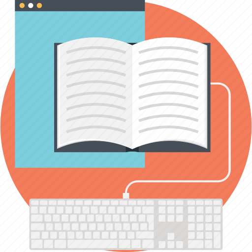 book, learning, online education, smartphone, study icon