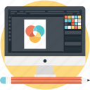 color, combination, creative search, design, monitor icon