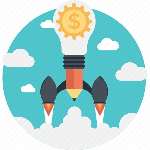 Dollar, idea, innovation, launch, missile icon - Download on Iconfinder