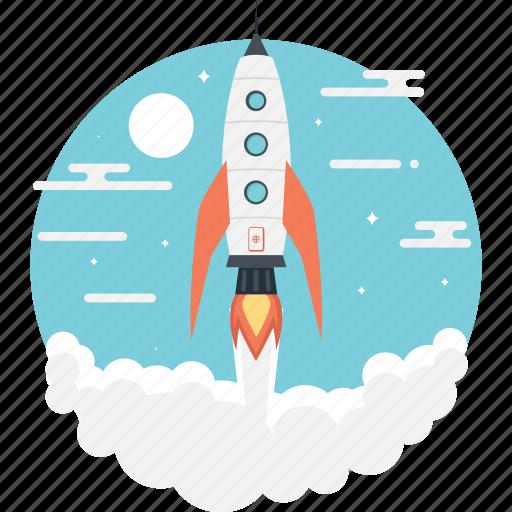 Missile, rocket, spacecraft, spaceship, startup icon - Download on Iconfinder