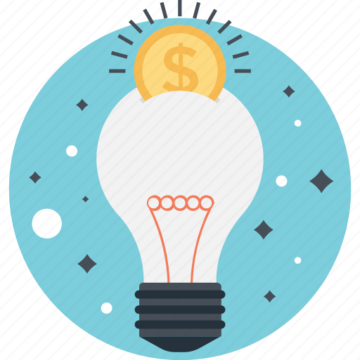 bulb, business, creativity, dollar, idea icon