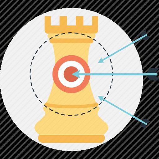aim, hit, planning, strategic, target icon