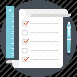 agenda, checklist, plan list, task, to do list icon