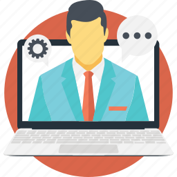 chat, consulting, help, online icon
