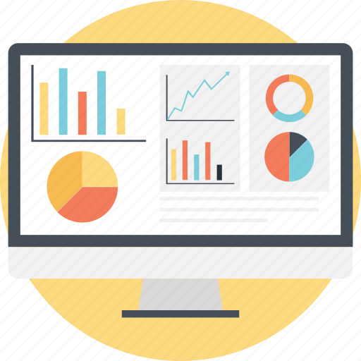 analytics, bar, graph, pie, statistics icon