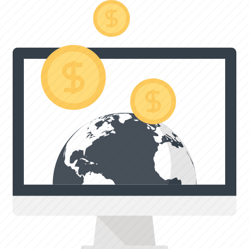 business, commerce, digital, ecommerce, electronic, money, online icon