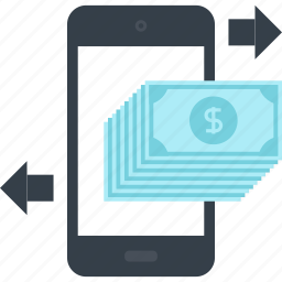 banking, commerce, message, mobile, money, payment, transaction icon