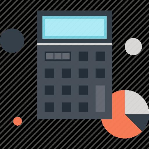accounting, budget, calculate, calculator, chart, finance, math icon