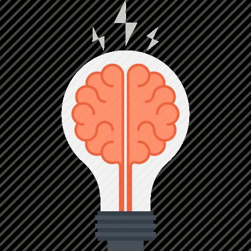 brain, brainstorm, bulb, creativity, idea, imagination, light icon