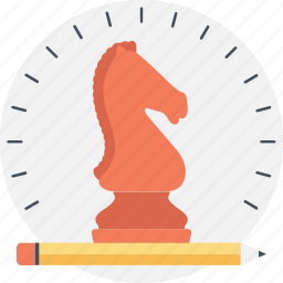 bishop, chess, game, knight, strategic planning icon
