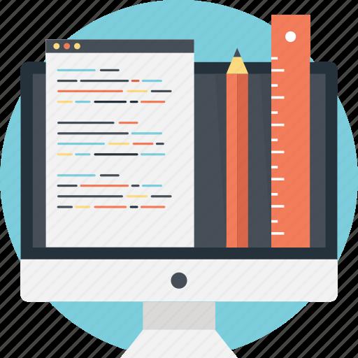 coding, development, ruler, source code, web icon