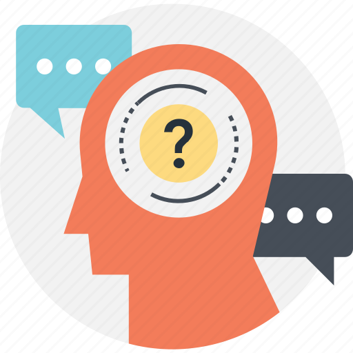 faq, mind, question, question mark, thinking icon