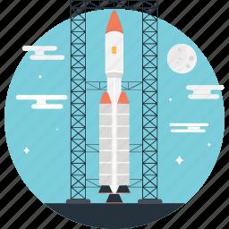 launch, missile, rocket, spacecraft, startup icon