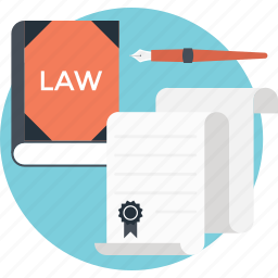 authorized, book, certificate, law, legal paper icon