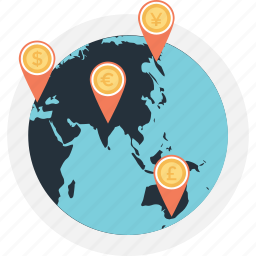 bank location, location, navigation, pin, pointer icon
