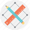 designing, graphic design, pencil, ruler, selection icon