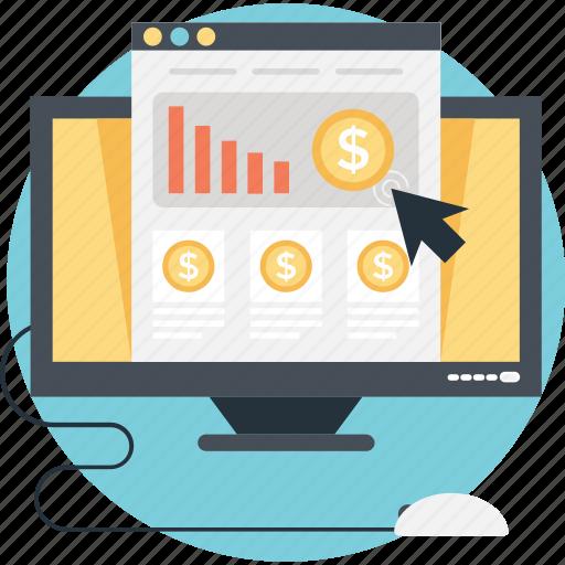 bar, click, e commerce, graph, ppc icon
