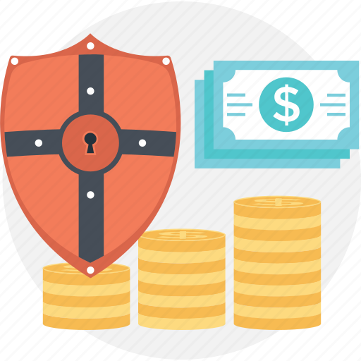business, dollar, paper money, privacy, protection icon